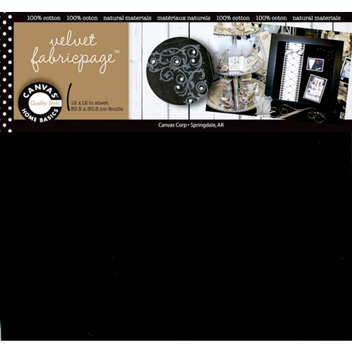 Canvas Corp - 12 x 12 Fabric Paper - Black Velvet