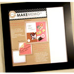 Canvas Corp - MakeMemo Collection - Wooden Frame with Metal Board - Black - 12 x 12