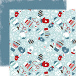 Carta Bella Paper - All Bundled Up Collection - Christmas - 12 x 12 Double Sided Paper - Mittens