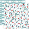 Carta Bella Paper - All Bundled Up Collection - Christmas - 12 x 12 Double Sided Paper - Small Snowflakes