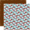 Carta Bella Paper - All Bundled Up Collection - Christmas - 12 x 12 Double Sided Paper - Chevron