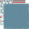 Carta Bella Paper - All Bundled Up Collection - Christmas - 12 x 12 Double Sided Paper - Navy Polka Dots