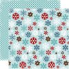 Carta Bella Paper - All Bundled Up Collection - Christmas - 12 x 12 Double Sided Paper - Large Snowflakes