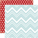 Carta Bella Paper - All Bundled Up Collection - Christmas - 12 x 12 Double Sided Paper - Large Chevron