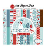 Carta Bella Paper - All Bundled Up Collection - Christmas - 6 x 6 Paper Pad