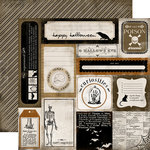 Carta Bella Paper - All Hallow's Eve Collection - Halloween - 12 x 12 Double Sided Paper - Curiosity Cards
