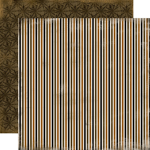 Carta Bella Paper - All Hallow's Eve Collection - Halloween - 12 x 12 Double Sided Paper - Scary Stripe