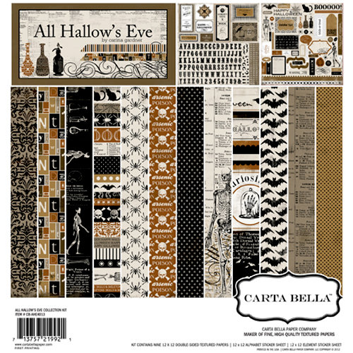 Carta Bella Paper - All Hallow's Eve Collection - Halloween - 12 x 12 Collection Kit