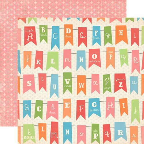 Carta Bella Paper - Alphabet Junction Collection - 12 x 12 Double Sided Paper - Alphabet Banner