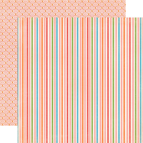 Carta Bella Paper - Alphabet Junction Collection - 12 x 12 Double Sided Paper - Delightful Stripe