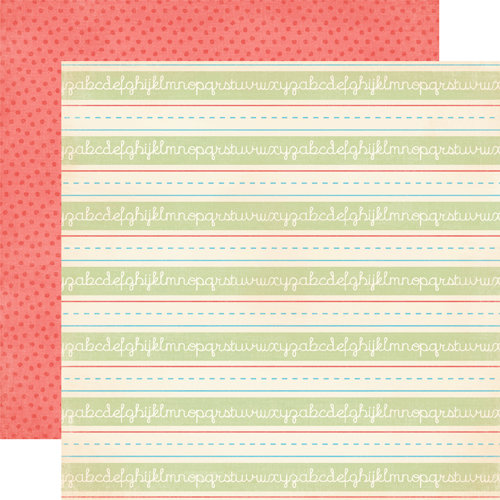 Carta Bella Paper - Alphabet Junction Collection - 12 x 12 Double Sided Paper - Handwriting