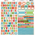 Carta Bella Paper - Alphabet Junction Collection - 12 x 12 Cardstock Stickers - Alphabet