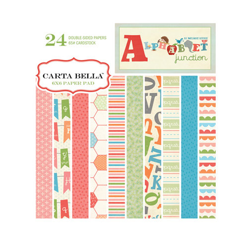 Carta Bella Paper - Alphabet Junction Collection - 6 x 6 Paper Pad