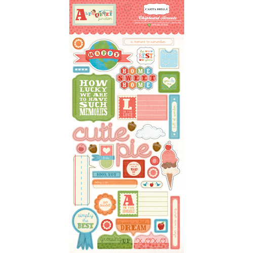 Carta Bella Paper - Alphabet Junction Collection - Chipboard Stickers