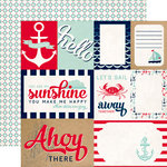 Carta Bella Paper - Ahoy There Collection - 12 x 12 Double Sided Paper - Lets Sail