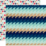 Carta Bella Paper - Ahoy There Collection - 12 x 12 Double Sided Paper - Waves
