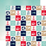 Carta Bella Paper - Ahoy There Collection - 12 x 12 Double Sided Paper - World Traveler