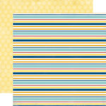 Carta Bella Paper - Beach Boardwalk Collection - 12 x 12 Double Sided Paper - Beachy Stripe