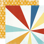 Carta Bella Paper - Beach Boardwalk Collection - 12 x 12 Double Sided Paper - Beach Ball