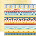 Carta Bella Paper - Beach Boardwalk Collection - 12 x 12 Double Sided Paper - Tropical Borders