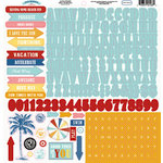 Carta Bella Paper - Beach Boardwalk Collection - 12 x 12 Cardstock Stickers - Alphabet