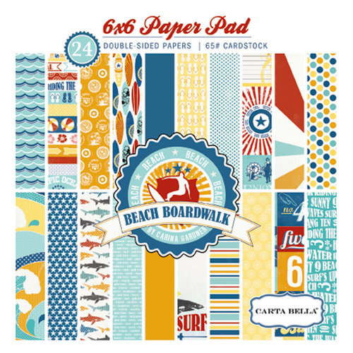 Carta Bella Paper - Beach Boardwalk Collection - 6 x 6 Paper Pad