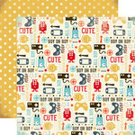 Carta Bella Paper - Boy Oh Boy Collection - 12 x 12 Double Sided Paper - Guy Stuff