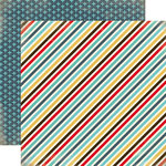 Carta Bella Paper - Boy Oh Boy Collection - 12 x 12 Double Sided Paper - Boy Stripe