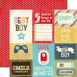 Carta Bella Paper - Boy Oh Boy Collection - 12 x 12 Double Sided Paper - Journaling Cards