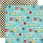 Carta Bella Paper - Boy Oh Boy Collection - 12 x 12 Double Sided Paper - Monster's Life