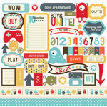 Carta Bella Paper - Boy Oh Boy Collection - 12 x 12 Cardstock Stickers