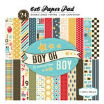 Carta Bella Paper - Boy Oh Boy Collection - 6 x 6 Paper Pad
