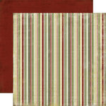 Carta Bella Paper - Christmas Day Collection - 12 x 12 Double Sided Paper - Stripe