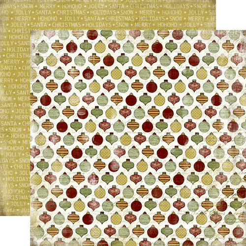 Carta Bella Paper - Christmas Day Collection - 12 x 12 Double Sided Paper - Ornaments