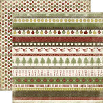 Carta Bella Paper - Christmas Day Collection - 12 x 12 Double Sided Paper - Holiday Borders