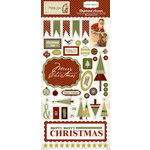 Carta Bella Paper - Christmas Day Collection - Chipboard Stickers