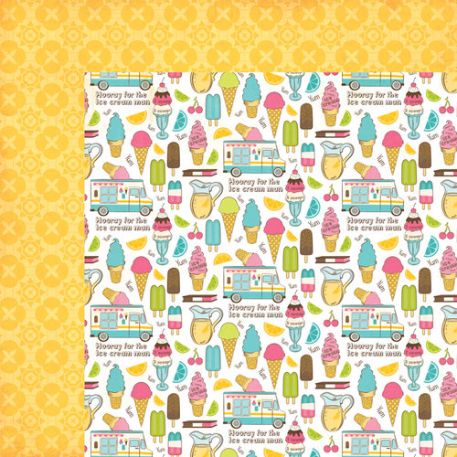 Carta Bella Paper - Cool Summer Collection - 12 x 12 Double Sided Paper - Cool Off