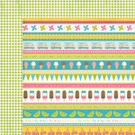 Carta Bella Paper - Cool Summer Collection - 12 x 12 Double Sided Paper - Ice Cream Borders