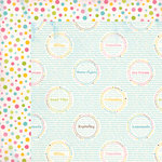 Carta Bella Paper - Cool Summer Collection - 12 x 12 Double Sided Paper - Summer Words