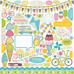 Carta Bella Paper - Cool Summer Collection - 12 x 12 Cardstock Stickers - Elements