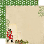 Carta Bella Paper - Christmas Time Collection - 12 x 12 Double Sided Paper - Santa Claus