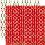 Carta Bella Paper - Christmas Time Collection - 12 x 12 Double Sided Paper - Red Ornaments