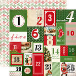 Carta Bella Paper - Christmas Time Collection - 12 x 12 Double Sided Paper - Countdown To Christmas