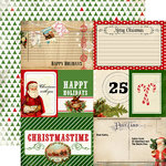Carta Bella Paper - Christmas Time Collection - 12 x 12 Double Sided Paper - Journaling Cards