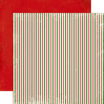 Carta Bella Paper - Christmas Time Collection - 12 x 12 Double Sided Paper - Christmas Stripes