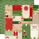 Carta Bella Paper - Christmas Time Collection - 12 x 12 Double Sided Paper - Christmas Tags