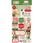 Carta Bella Paper - Christmas Time Collection - Chipboard Stickers