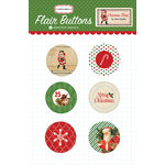 Carta Bella Paper - Christmas Time Collection - Flair Buttons