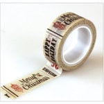 Carta Bella Paper - Christmas Time Collection - Decorative Tape - Christmas Words