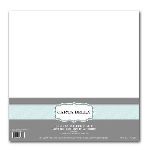 Carta Bella Paper - 12 x 12 Designer Cardstock Pack - Ultra White